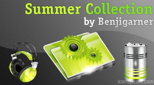 Коллекция летних иконок
