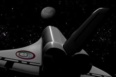 космический шатл в 3д