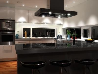 дизайн кухни в 3д