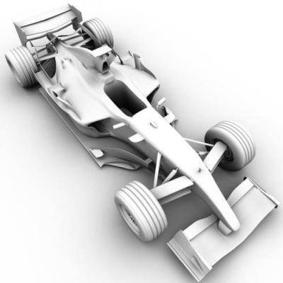 гоночная машина в 3д