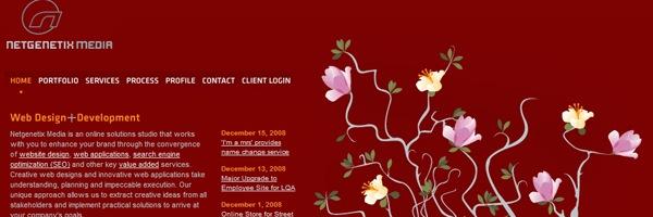 цветы в дизайне сайтов