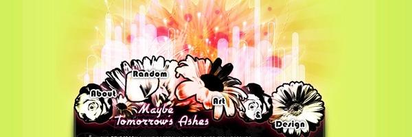 Цветы на хедере зеленого сайта