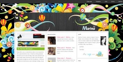 Разнообразие ярких красок на сайте