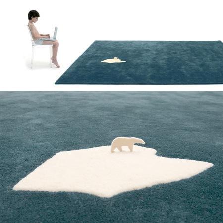"""Ковер """"Глобальное потепление и белый медведь"""""""