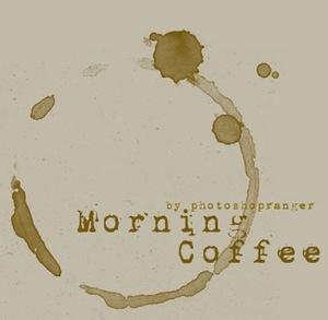 Киси-отпечатки кофе
