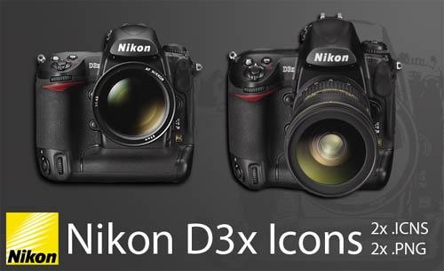 Иконки Nikon D3x