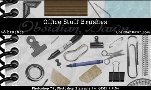 Кисти офисные предметы