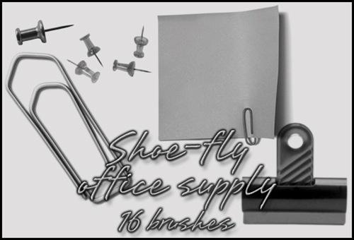 16 кистей-канцтоваров для фотошопа