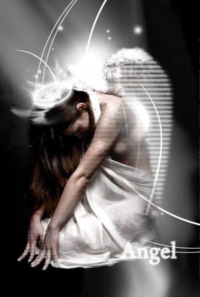 электронный ангел из изображения девушки