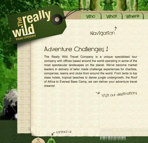 зеленый сайт о путешествиях