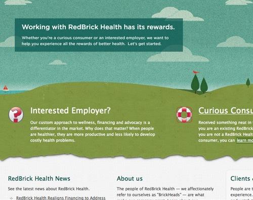зеленый иллюстрированный сайт
