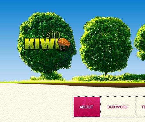 зеленые деревья на сайте