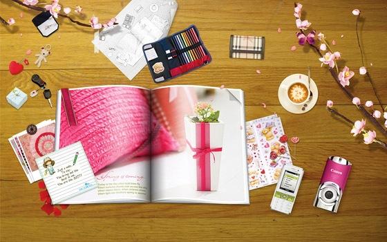 стильные розовые обои
