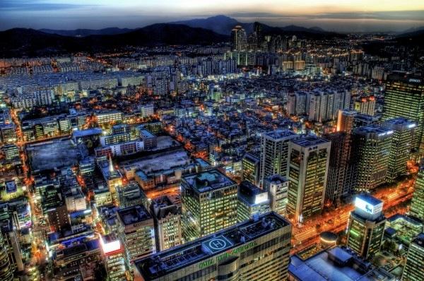 Закат в Сеуле хдр