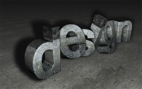каменные 3d буквы