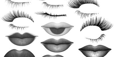 Кисти ресницы и губы