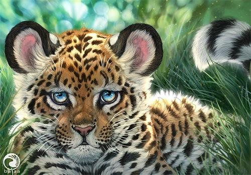 цифровой рисунок леопарда