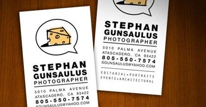 визитка с изображением сыра