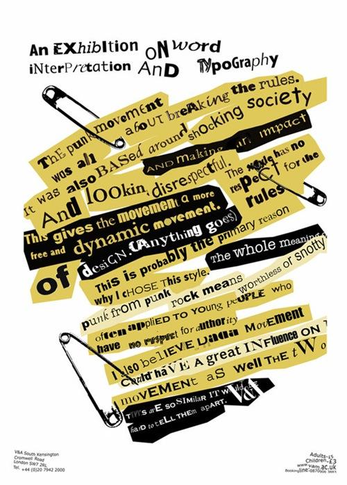 необычный типографический постер