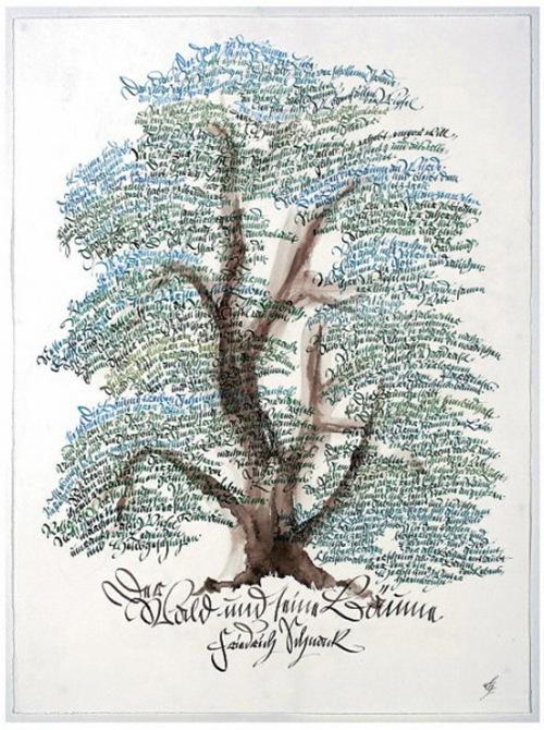 Дерево из шрифтов