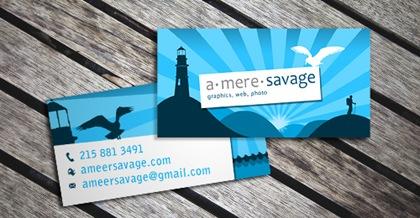 визитка в морском стиле