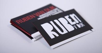 темный дизайн визиток