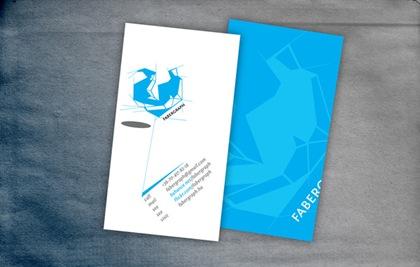 голубой дизайн визитки