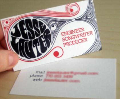 типографические шрифты на  визитках