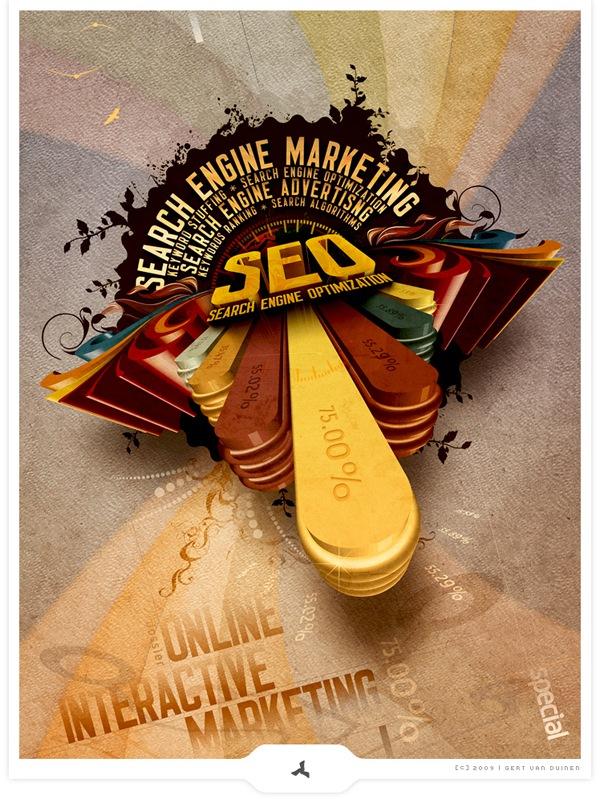 креативный ретро постер