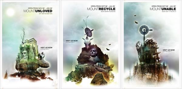 креативные иллюстрированные постеры