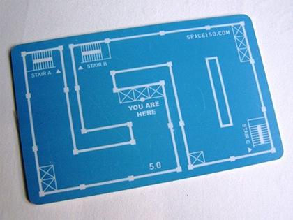 схема на визитке
