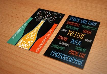 разнообразие цветов в дизайне визиток