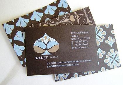 абстрактные рисунки на визитках