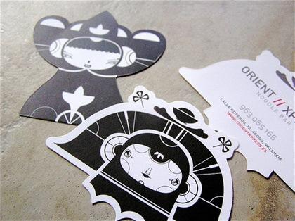 визитки необычной формы