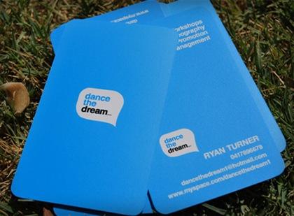 простой голубой дизайн визитки