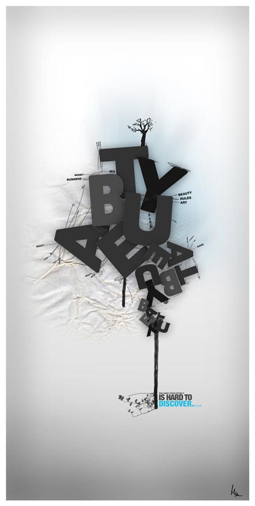 креативные примеры типографики