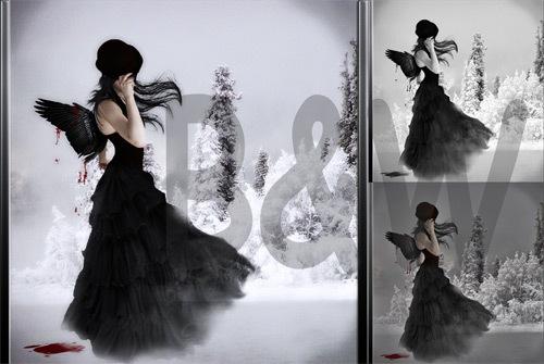 5 черно-белых экшенов для фотошопа