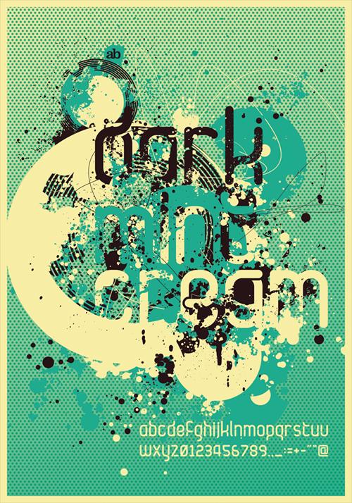 Темный,мятный,сливочный постер