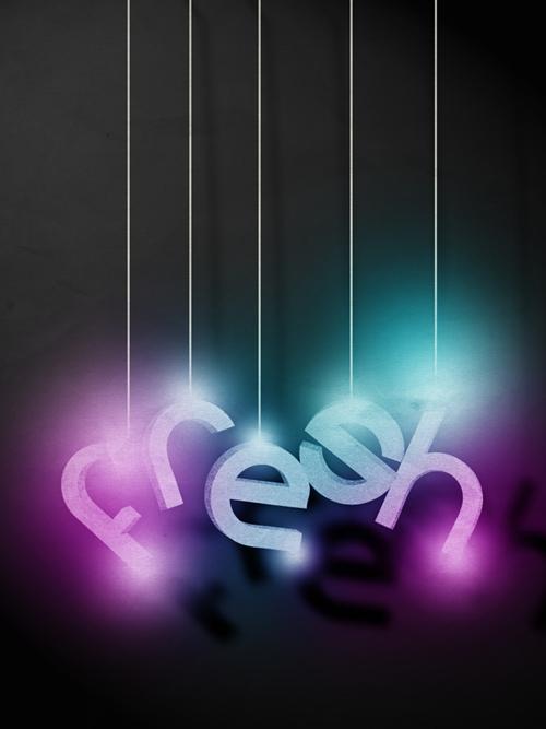 3D типографика в постере