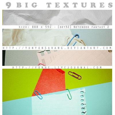 9 больших бумажных текстур