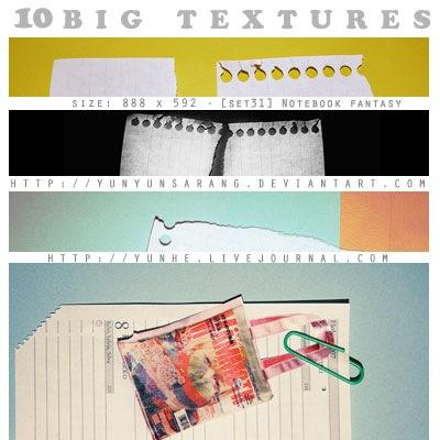 10 больших бумажных текстур