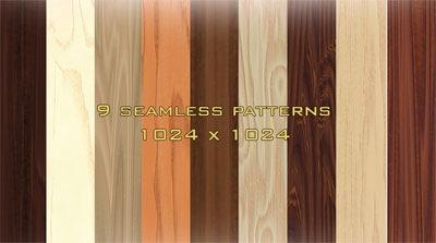 9 деревянных паттернов