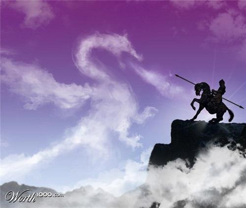 дракон из облака