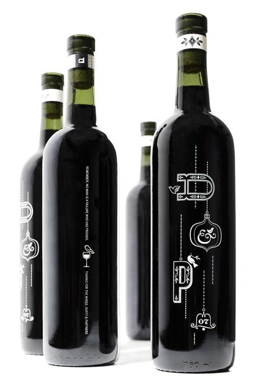 стильная бутылка вина