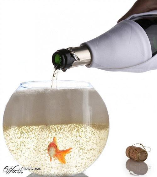 рыбка в шампанском