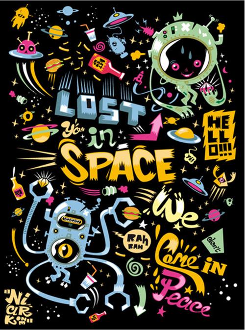 иллюстрированный постер