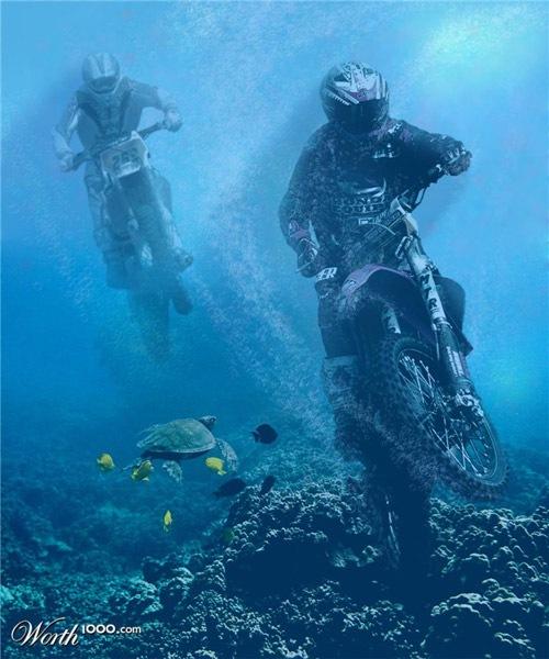 подводные  мотогонки