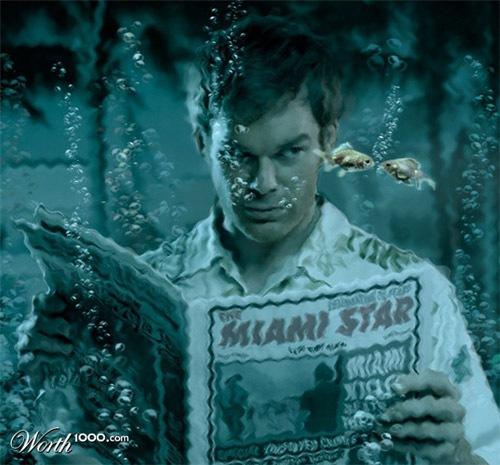 Декстер под водой