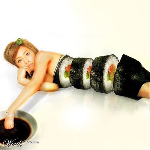 девушка-суши