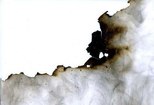 Текстура обгоревшей бумаги